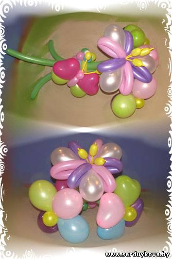 Букет 3 цветочка №01