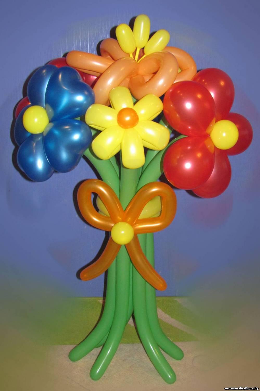 Фото букетов цветов из шаров