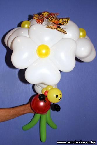 Букет из воздушных шаров три цветка №03