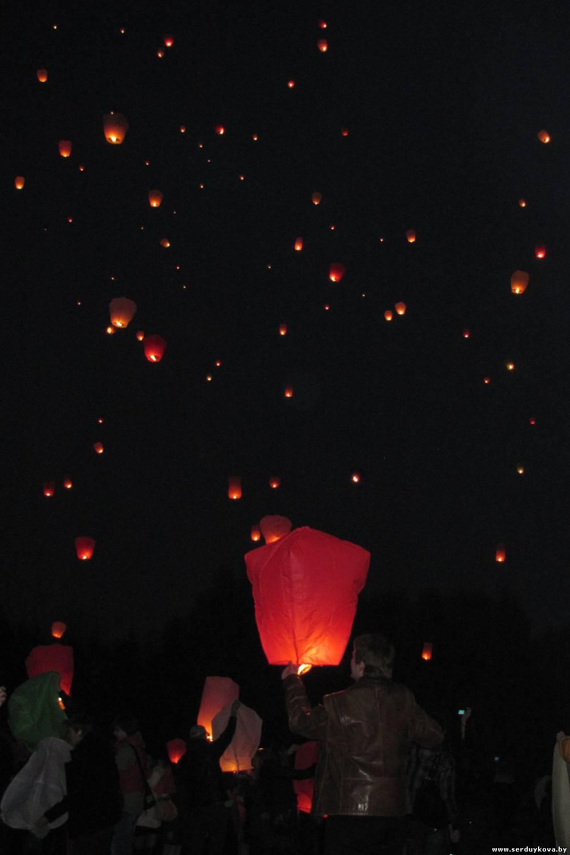Запуск Небесных фонариков счастья