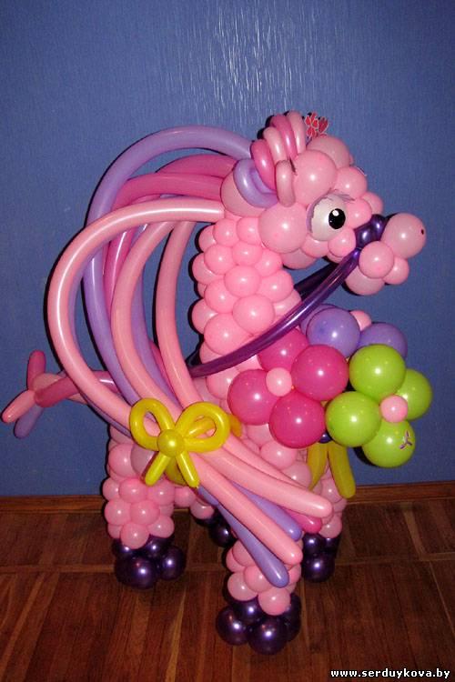 Лошадка из шаров своими руками пошаговая инструкция 51