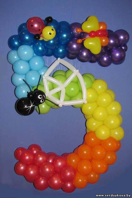 ЦИФРА пять из воздушных шаров 85 минск, купить, цены, фото, доставка воздушных шаров