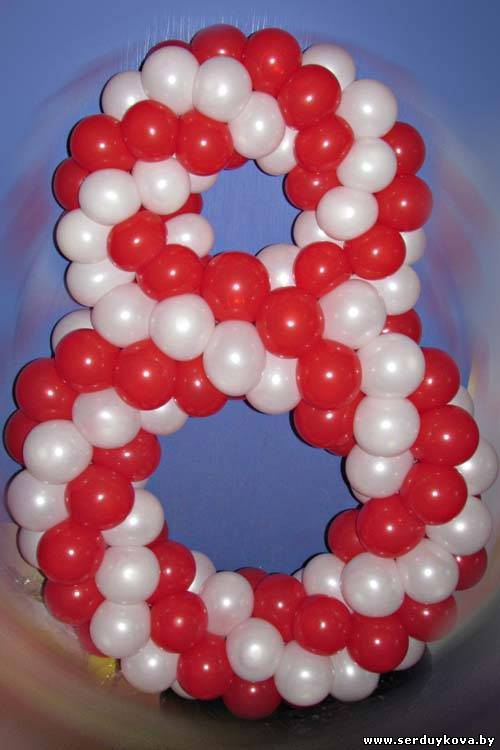 Цифра восемь из воздушных шаров 93 минск, купить, цены, фото, доставка воздушных шаров