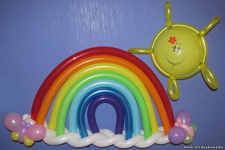 Как сделать радугу из воздушных шаров своими руками
