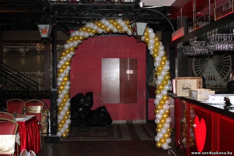 Оформление праздника воздушными шарами - арка на вход