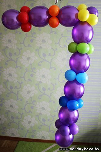 Как сделать цифру 1 с шарами