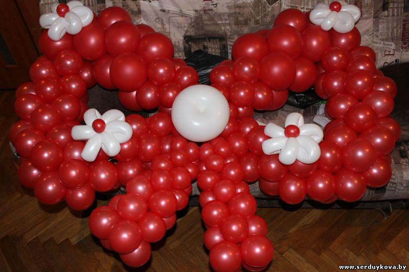 Бант из воздушных шаров своими руками 8