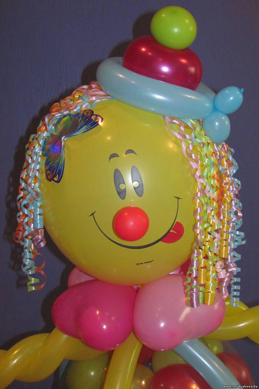 Клоун из шаров своими руками пошаговая инструкция 916