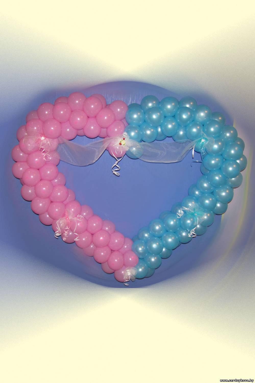 Сердечки из шаров на свадьбу фото