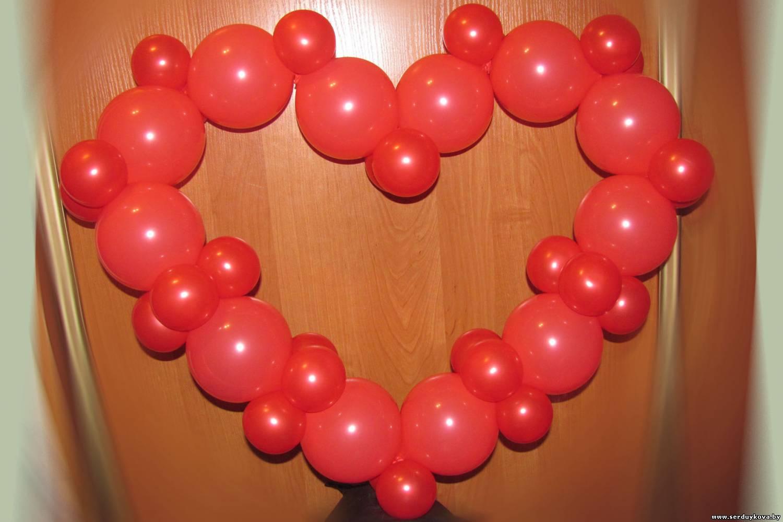 Как сделать с шариками сердечко 866
