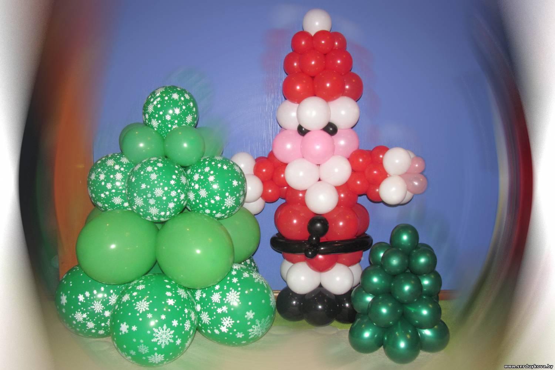 Как сделать из новогоднего шарик из воздушного шарика