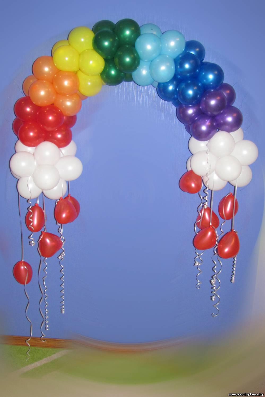 Оформление шарами пошаговое фото