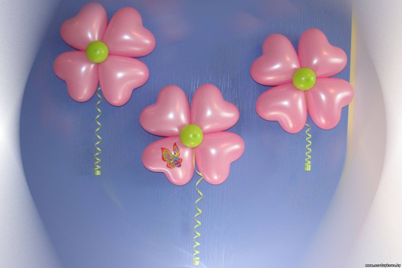 Как из воздушного шара сделать цветы из