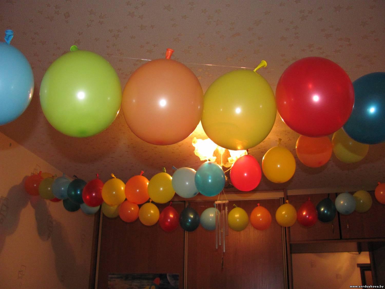 Украшение обычными шарами