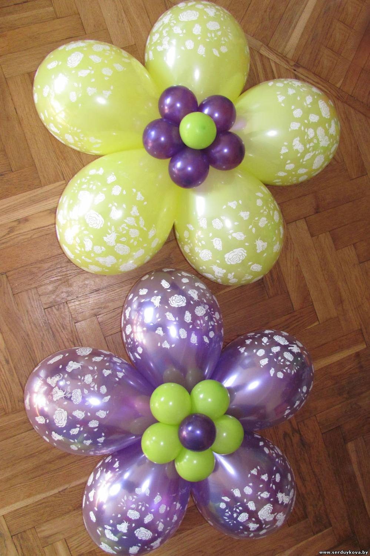 Как сделать цветки шарика фото