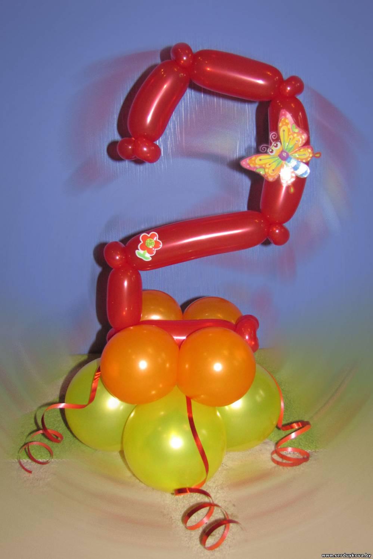 Как сделать цифру 3 из длинных воздушных шаров своими руками 64