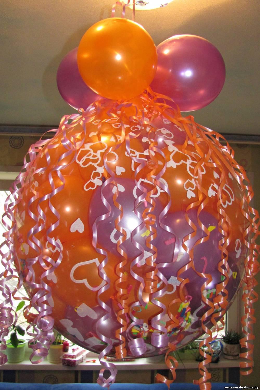 Как сделать чтобы шары висели на потолке