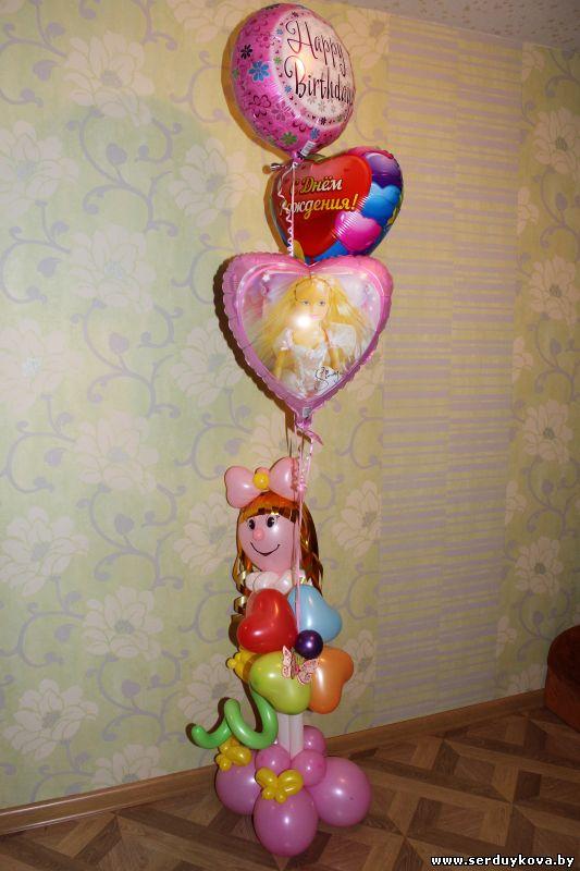 Подарки из воздушных шаров для девочек 46