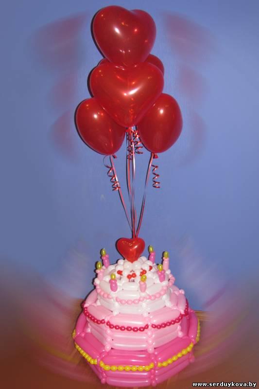 Как сделать из шариков торт 446