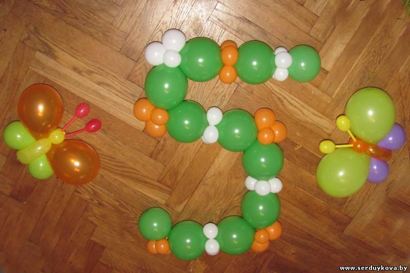 Как сделать 5 из шаров